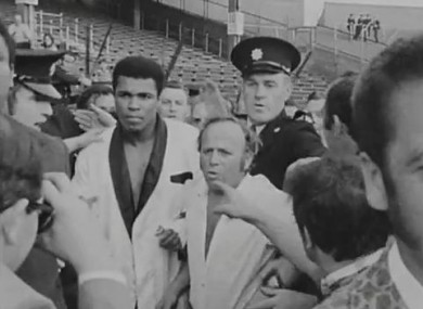 Getting Ali to the ring in Croke Park in 1972