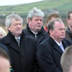 GAA Director-General Padraic Duffy (left) and GAA President Liam O'Neill (right) amongst the mourners today.
