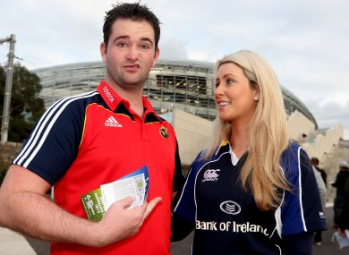Not bluffers: Paul Keating from Tipperary with his partner Caitriona Dalton from Carlow.