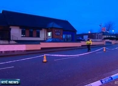 The scene outside the pub in Ballyphehane where Gerard Delaney died last December.