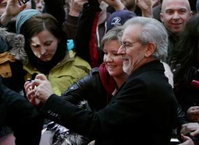 Steven Spielberg is usually on the other side of the camera.