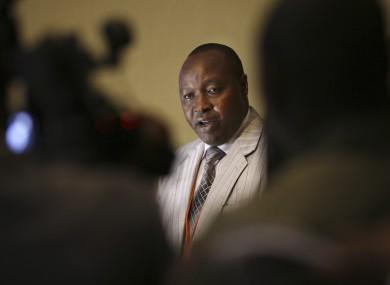 Francois Rucogoza, leader of the delegation of Congolese M23 rebels