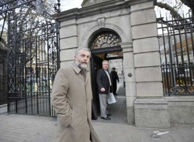 SIPTU General President, Jack O'Connor on his way into the Dáil last month.