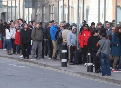 A queue at a social welfare office in Dublin in 2012.