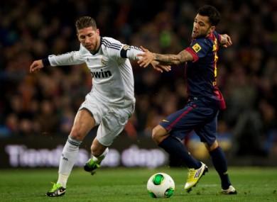 Sergio Ramos and Danny Alves.