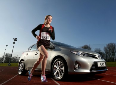 Britton during the announcement that she has become a brand ambassador for Toyota Ireland.