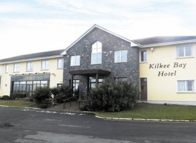 Kilkee Bay Hotel in Co Clare has a reserve of €315,000 for the March distressed property auction.