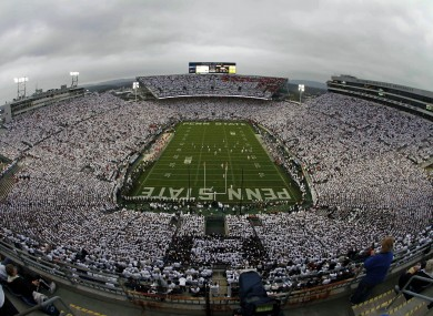 Beaver Stadium, the home of Penn State football.