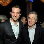 Inside, Bradley Cooper and Robert Deniro were having a great laugh.  Would it be so wrong to keep thinking of them as the father and son due they are in Silver Linings Playbook?  (John Shearer/Invision/AP)