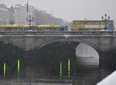 File image of Dublin Buses in snow.