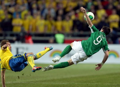 Let's hope Shane Long can stay on his feet against Austria tonight...