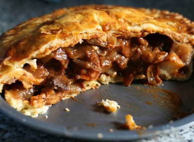 A beef pie. Presumably containing beef.