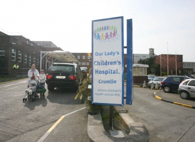 Our Lady's Children's Hospital in Crumlin, Dublin (file photo)