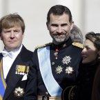 Dutch Prince Willem-Alexander, left, Prince Felipe of Spain and Princess Letizia. (AP Photo/Gregorio Borgia)