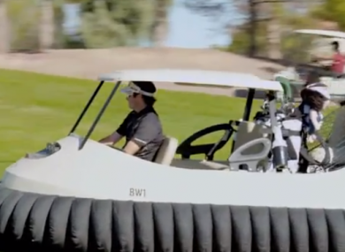 Bubba Watson tests out his new idea.