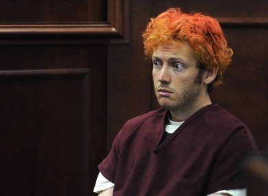 James Holmes appears before a court for the first time in July 2012