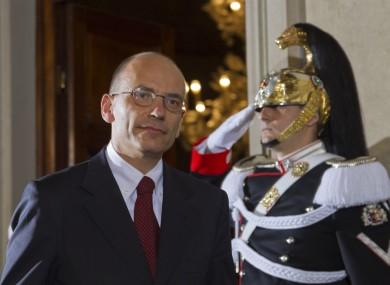 Italy's designate-Premier Enrico Letta before the announcement today
