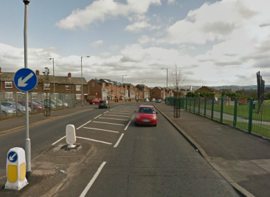 Oldpark Road in Belfast, where a prison officer was the victim of an attempted murder in 1977.