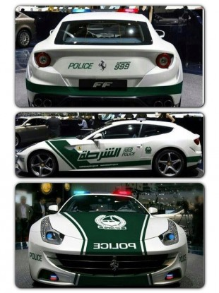 The new wheels in police livery, as tweeted by a chuffed Dubai Police