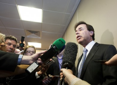 Minister Alan Shatter speaking to the media today
