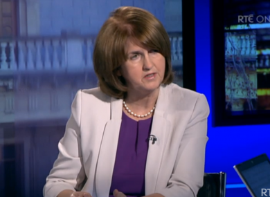 Joan Burton speaking today