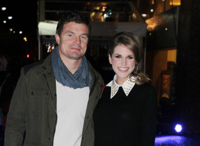 Brian O'Driscoll with wife Amy Huberman at a movie premiere last October.