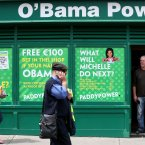 A Paddy Power Bookmakers renamed Obama Power in Dalkey. (Pic: Julien Behal/PA Wire)