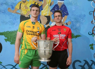 Donegal's Leo McLoone and Mark Poland of Down