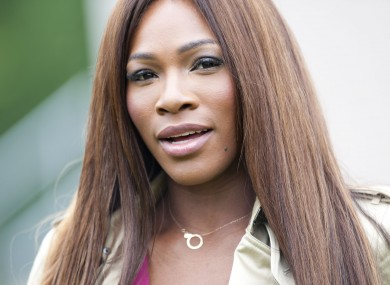 Serena Williams arriving at the Burberry Prorsum fashion show, held in Hyde Park during London Collections: Men this week.