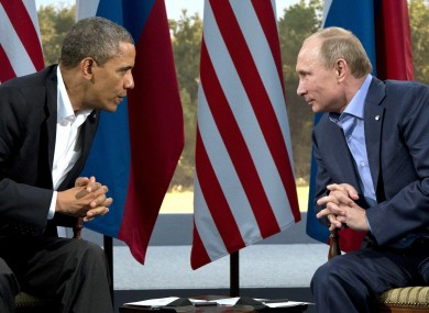 President Barack Obama meets with Russian President Vladimir Putin in Enniskillen.