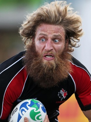 No need to fear this beard as flanker Adam Kleeberger is not playing tonight.