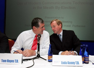 File photo of Tom Hayes TD and Taoiseach Enda Kenny