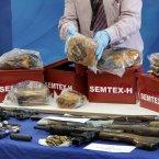 Explosive substances including semtex.<span class=