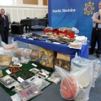 Selection of arms and explosives discovered by Gardaí in Cloghran Co. Dublin last week.<span class=