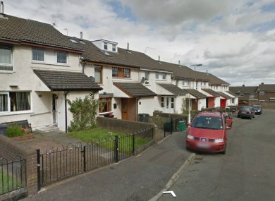 File image of Cranbrook Court in Belfast where the masked men were earlier today.