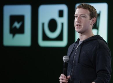 Facebook creator Mark Zuckerburg earlier this year