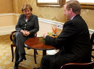 Angela Merkel with Enda Kenny in one of their earlier meetings five years ago