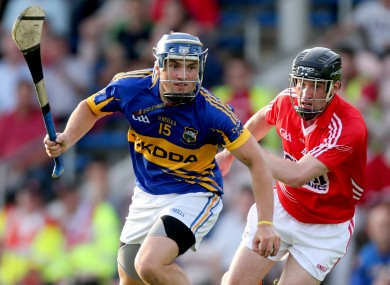 Tipperary's Liam McGrath and Diarmuid Lester of Cork.
