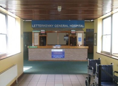 A reception area in Letterkenny Hospital (File photo)