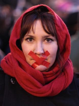 Emma Ryan at a Pro-Choice rally in January 2013