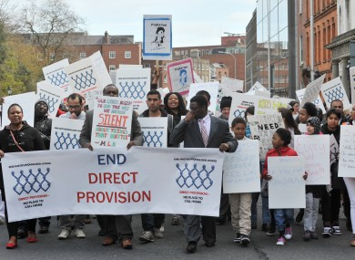 A march this year calling for an end to direct provision.