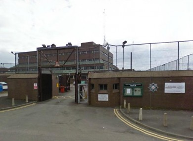 Antrim Police Station where the men are being questioned.