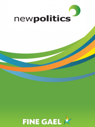 The frontpage of Fine Gael's New Politics document published just over a year before the 2011 general election