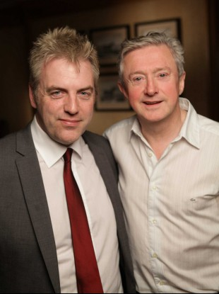 Presenter Donal McIntyre with Louis Walsh