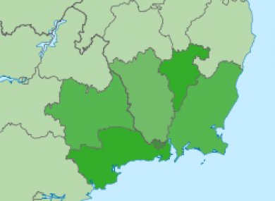 Map Of South East Ireland.Broadband Tourism And A Stronger Airport Revitalising The South