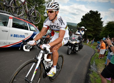 Belgian Philippe Gilbert of BMC Racing won today's stage of the Vuelta.