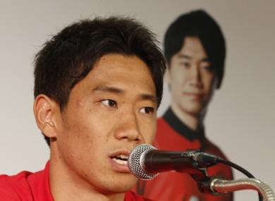 Kagawa facing the media (file photo).