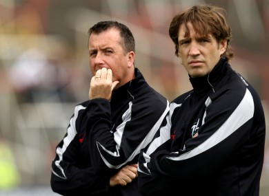 Kieran McGenney and selector Niall Carew in 2011.