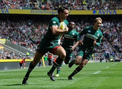 Scoring Leicester's first try of their Premiership Final win over Northampton Saints, in front of 82,000 people, was the highlight of last season for Niall Morris.