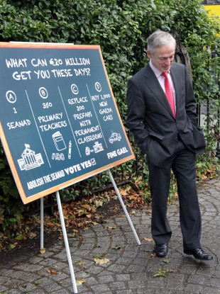 FG's Richard Bruton with suggestions for where the €20 million could be spent.